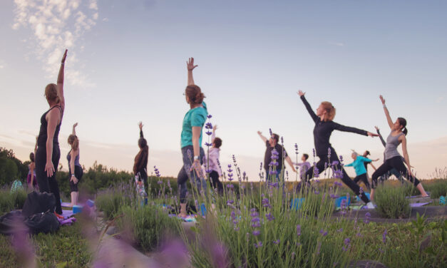 Yoga in the Lavender Field